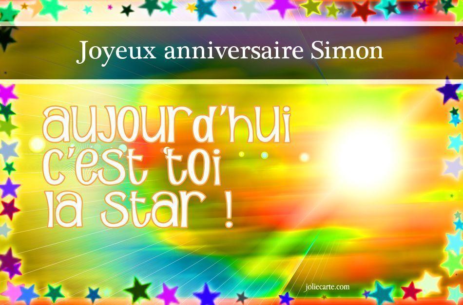 Joyeux Anniversaire Simon